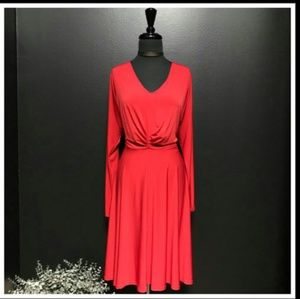 COVINGTON Royal Red Midi Party Dress(Sz 2X)